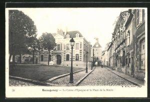 AK Beaugency, La Caisse d'Epargne et la Place de la Mairie