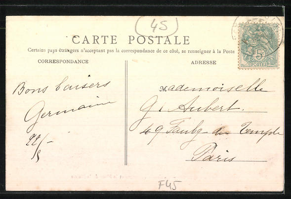 AK Beaugency, La Caisse d'Epargne et la Place de la Mairie 1
