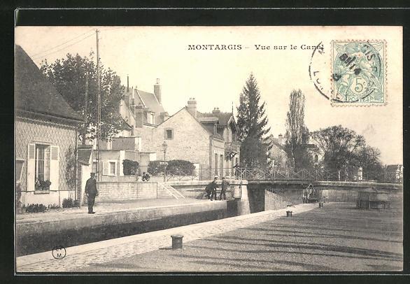 AK Montargis, Vue sur le Canal 0