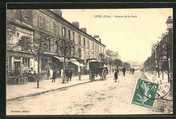 AK Creil / Oise, Avenue de la Gare