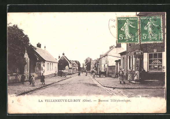 AK La Villeneuve-Le-Roy / Oise, Bureau Téléphonique 0