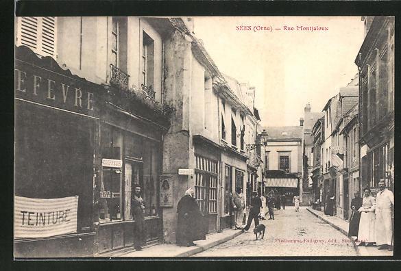AK Sées / Orne, Rue Montjaloux