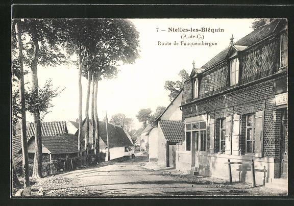 AK Nielles-les-Blequin, Route de Fauquembergue 0