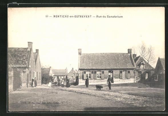 AK Monticny-en-Ostrevent, Rue du Sanatorium 0