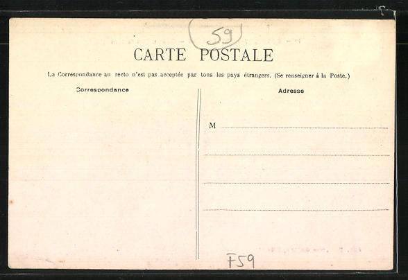 AK Monticny-en-Ostrevent, Rue du Sanatorium 1