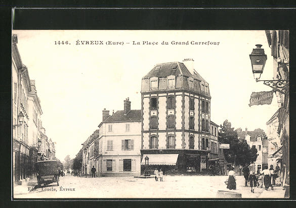AK Évreux, La Place du Grand Carrefour