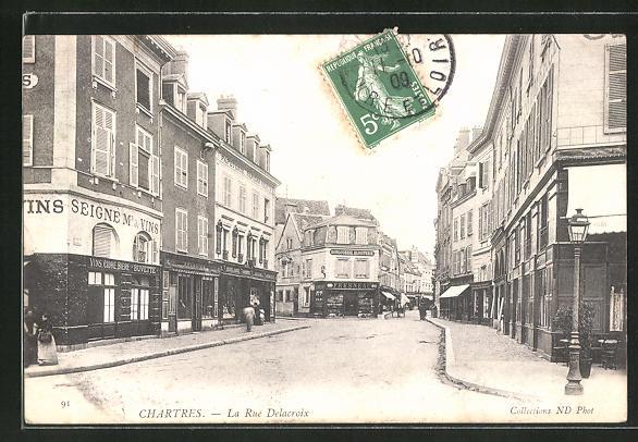 AK Chartres, La Rue Delacroix 0
