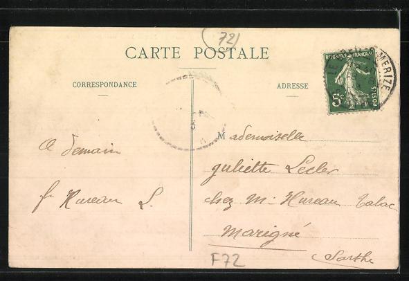 AK Le Breil-sur-Merize, Carrefour de la Poste 1