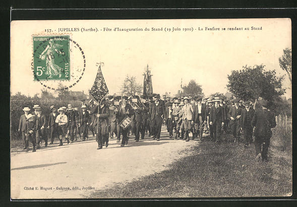 AK Jupilles, Fete d'Inauguration du Stand 1910 0