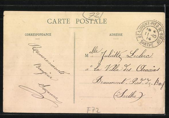 AK Jupilles, Fete d'Inauguration du Stand 1910 1
