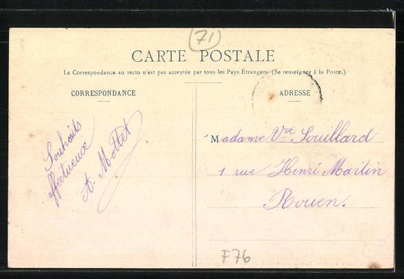 AK Argueil, Hotel du Lion d'Or, Place Verte 1