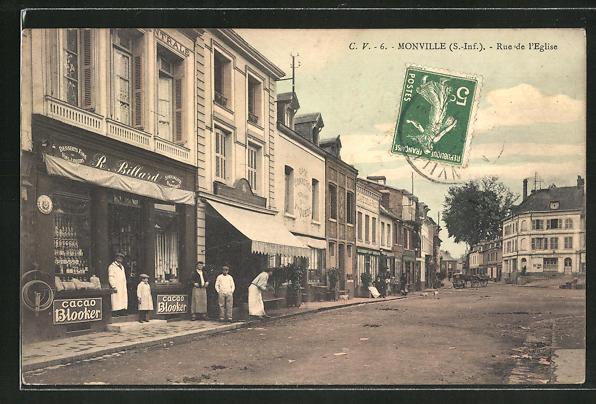AK Monville, Rue de l'Eglise 0