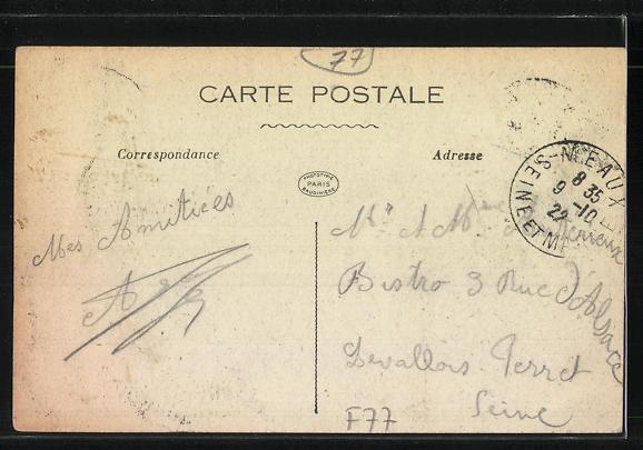 AK Meaux, La Rue du Grand Cerf et le Pont du Marché 1