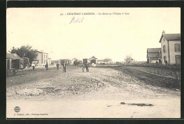 AK Chateau-Landon, La Gare et l'Usine à Gaz 0