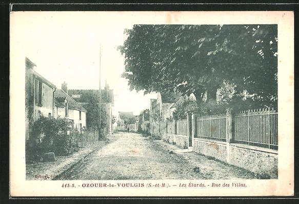 AK Ozouer-le-Voulgis, Les Étards, Rue des Villas 0