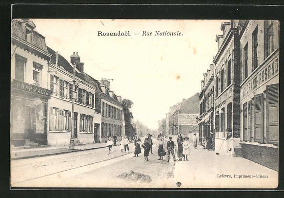 AK Rosendael, Rue Nationale, Strassenpartie im Ortskern 0