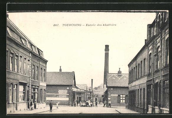 AK Tourcoing, Entrée des Abattoirs, Eingang zum Schlachthof