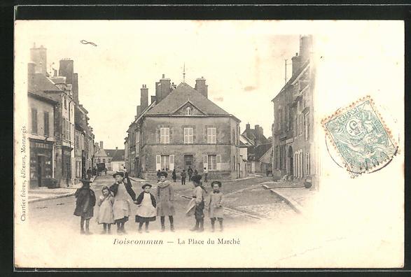 AK Boiscommun, La Place du Marché, Marktplatz 0