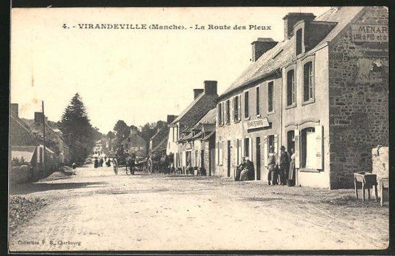 AK Virandeville, La Route des Pieux 0