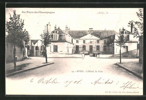 AK Avize, L'Hotel de Ville / Rathaus 0