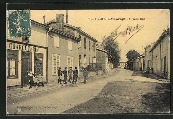 AK Heiltz-le-Maurupt, Grande Rue, Charcuterie