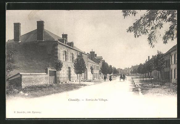 AK Chouilly, Entrée du Village, Strassenpartie 0