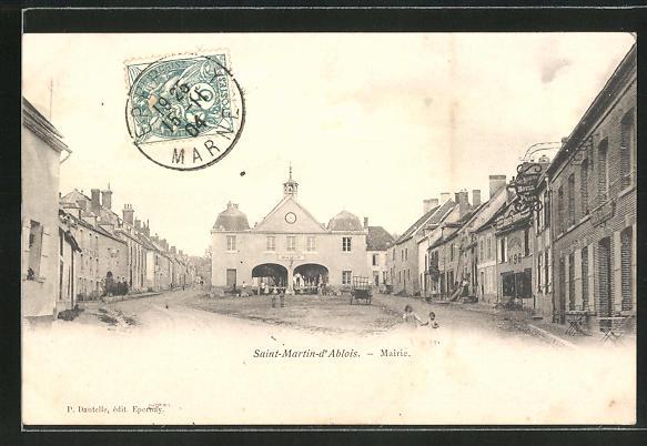 AK Saint-Martin-d'Ablois, Mairie, Hotel de Paris und Rathaus 0