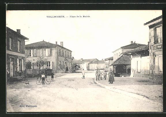 AK Voillecomte, Place de la Mairie, Rathausplatz 0