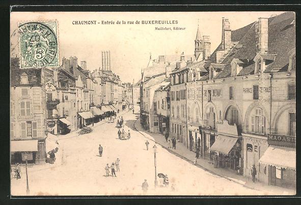 AK Chaumont, Entrée de la rue de Buxerreuilles 0