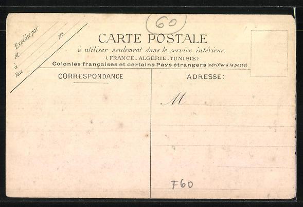 AK Grandvilliers, Rue d'Amiens, Strassenpartie 1
