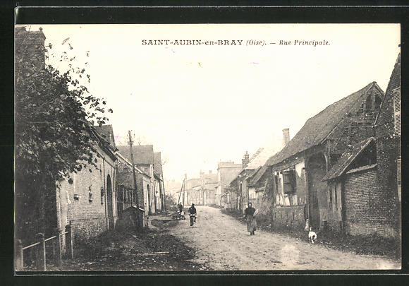 AK Saint-Aubin-en-Bray, Rue Principale / Hauptstrasse 0