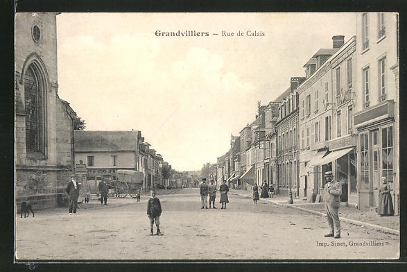 AK Grandvilliers, Rue de Calais 0