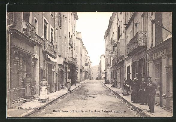 AK Bédarieux, La Rue Saint-Alexandre 0