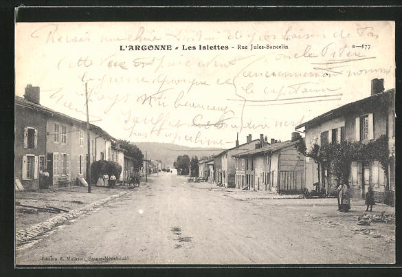 AK Les Islettes, Rue Jules-Bancelin, Strassenpartie im Ort 0