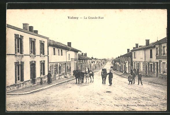AK Valmy, La Grande-Rue, Strassenpartie 0