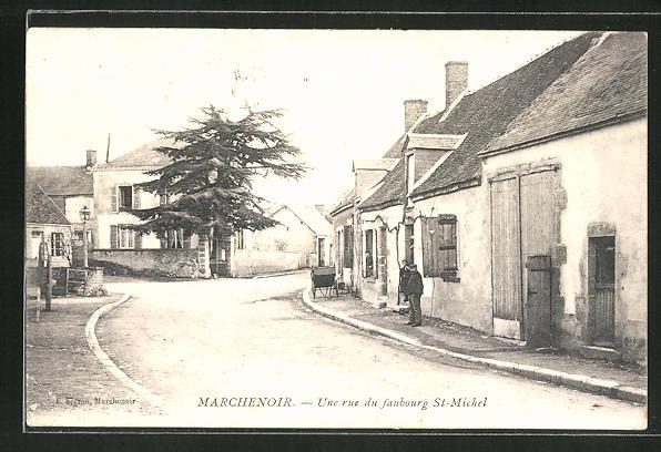 AK Marchenoir, Une rue du faubourg St-Michel 0