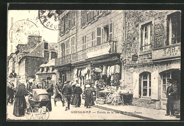 AK Guingamp, Entrée de la rue de Notre-Dame 0