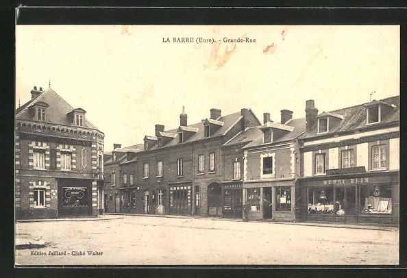 AK La Barre, Grande-Rue, Fahrrad-Geschäft