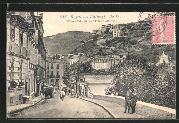 AK Royat-les-Bains, Boulevard Bazin et l'Observatoire 0