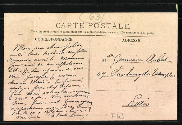 AK Royat-les-Bains, Boulevard Bazin et l'Observatoire 1