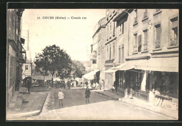 AK Cours, Grande rue, Strassenpartie im Zentrum 0