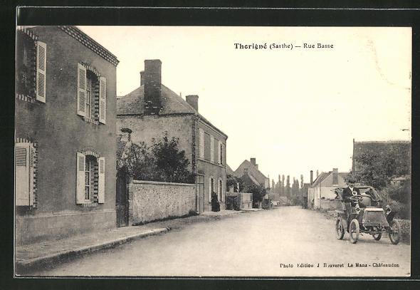 AK Thorigné, Rue Basse, Strassenpartie