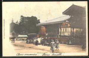 AK Arcis-sur-Aube, Place du Marché Couvert