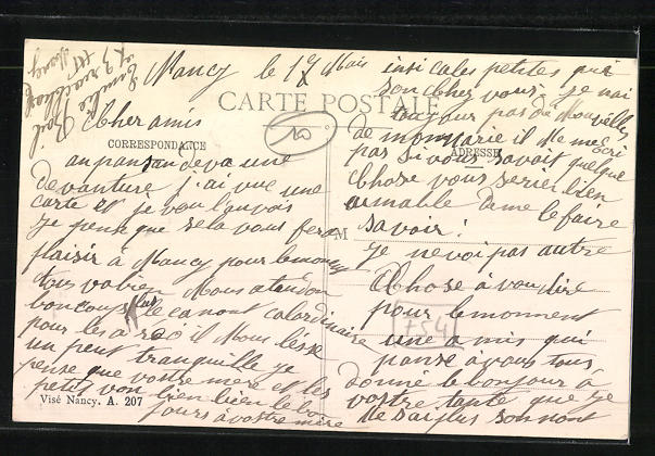 AK Nancy, Funérailles des victims faites par un Taube 27 Avril 1915 1