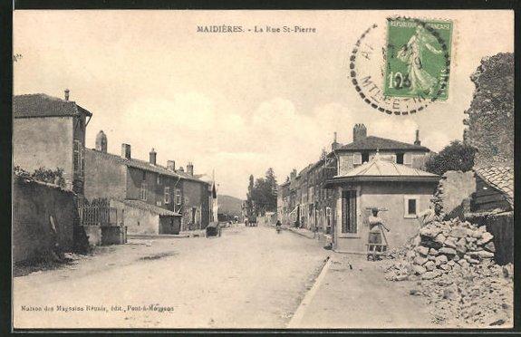 AK Maidières, La Rue St-Pierre 0