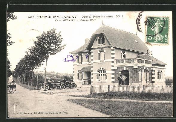 AK Flez-Cuzy-Tannay, Hotel Pommereau No. 1 0