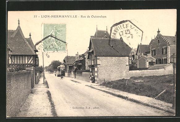 AK Lion-Hermanville, Rue de Ouistreham 0