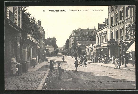 AK Villemomble, Avenue Outrebon, Le Marché