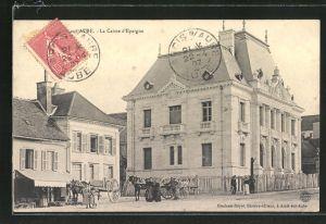 AK Arcis-sur-Aube, La Caisse d'Epargne