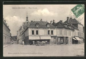 AK Arcis-sur-Aube, Etablissements Economiques Troyens, Place Grassin